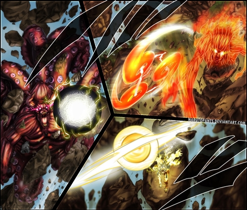 Naruto e Killer Bee VS Madara - E assim o mundo ninja acaba