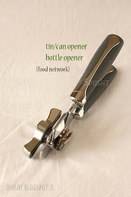 tin can and bottle opener
