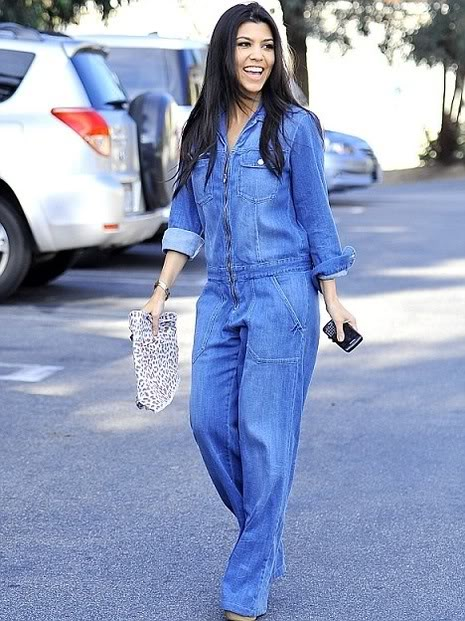 Images of Denim Long Sleeve Jumpsuit - Reikian