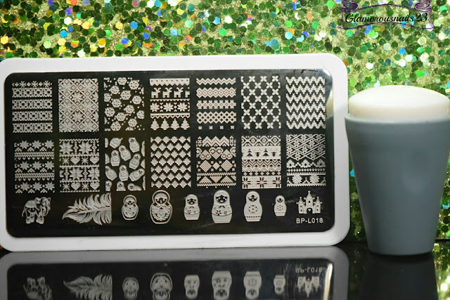 "Born Pretty Store ""Russian Doll Sweater"" BP-L018 Stamping Plate, Bundle Monster Mega Squishy Silicone Stamper"