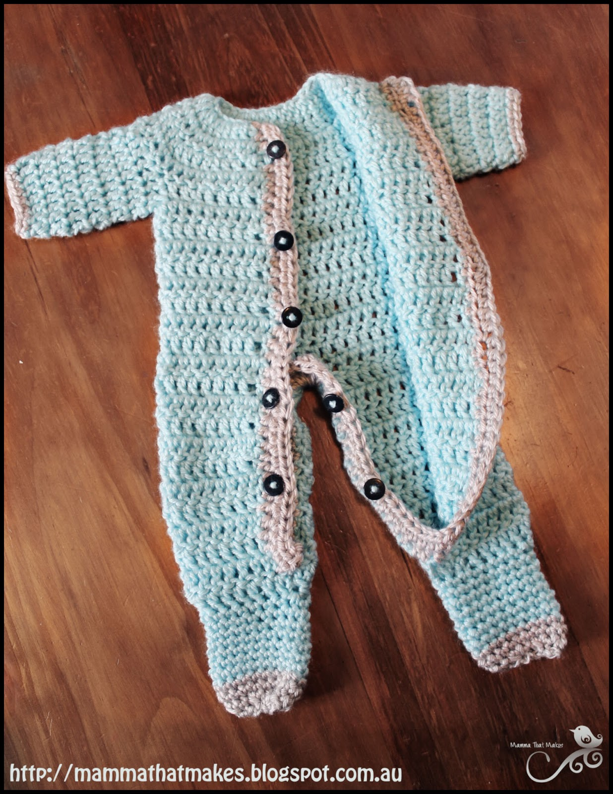 Mamma That Makes Ezra Romper Free Crochet Pattern