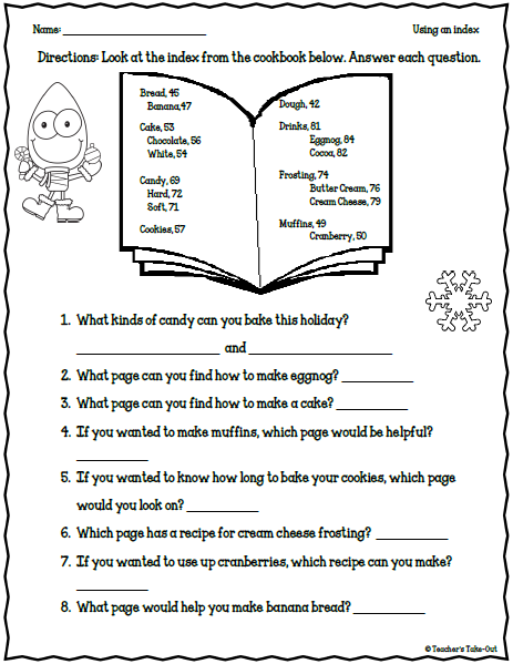 Holiday worksheets for teachers