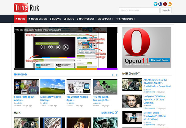 Free Download Tuberuk Great Video wordpress theme