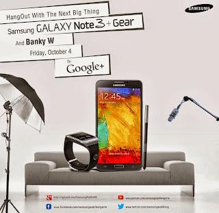 Galaxy note 3 + gear hangout banner