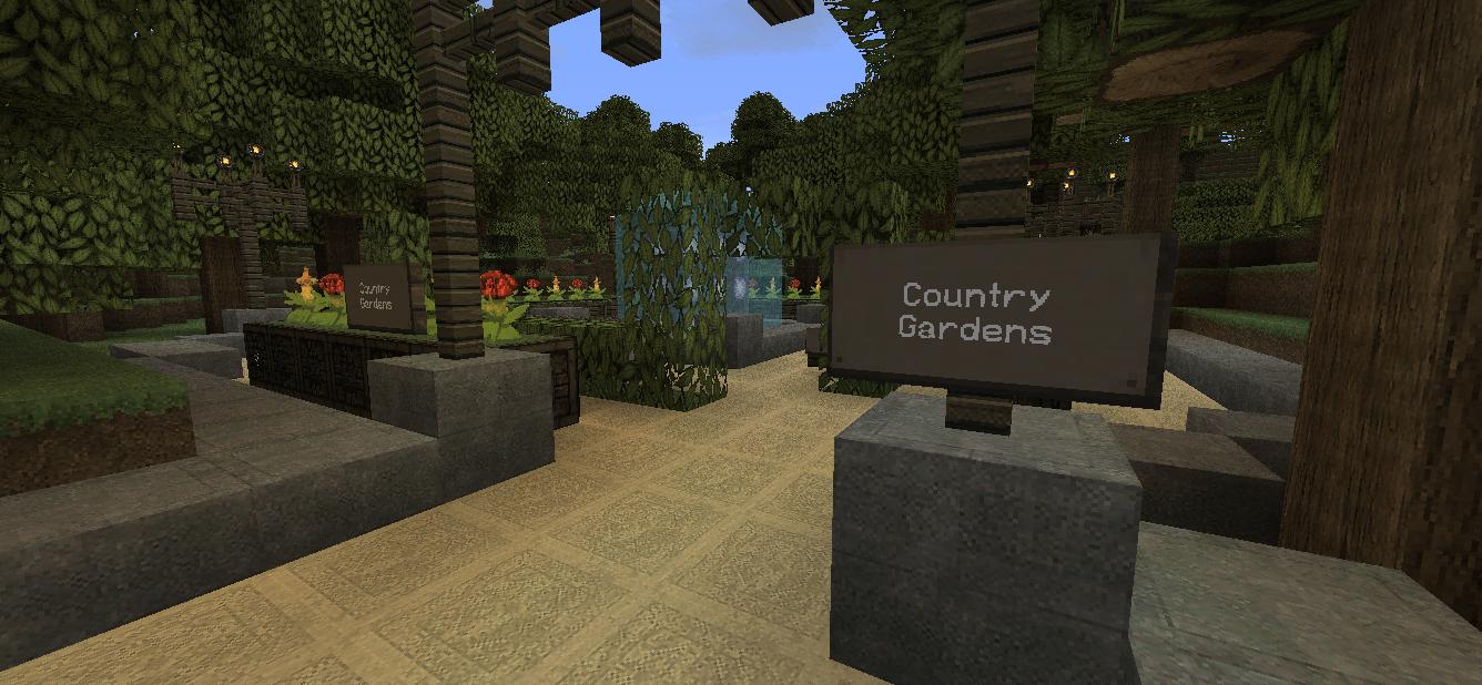minecraft beautiful garden