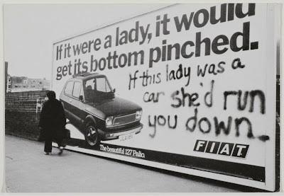 Fiat billboard feminist guerilla street art