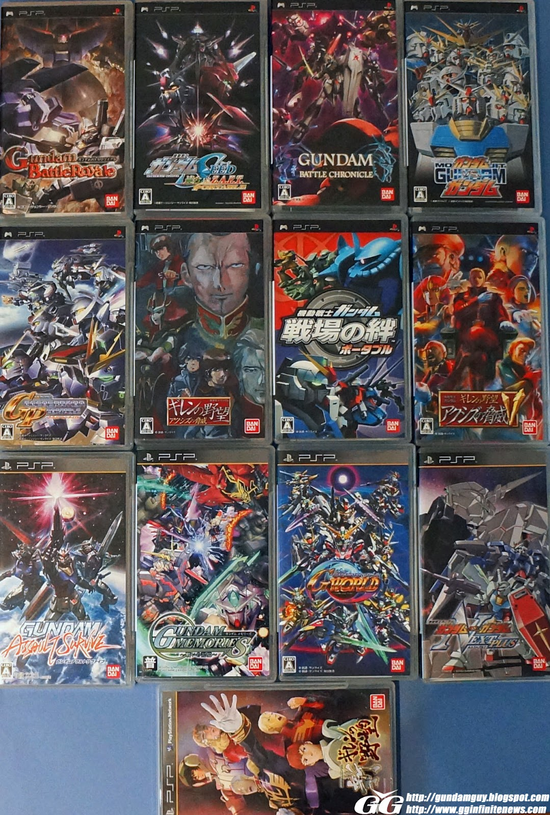 gundam guy: gundam game collection - my collection ps2/psp/ps3