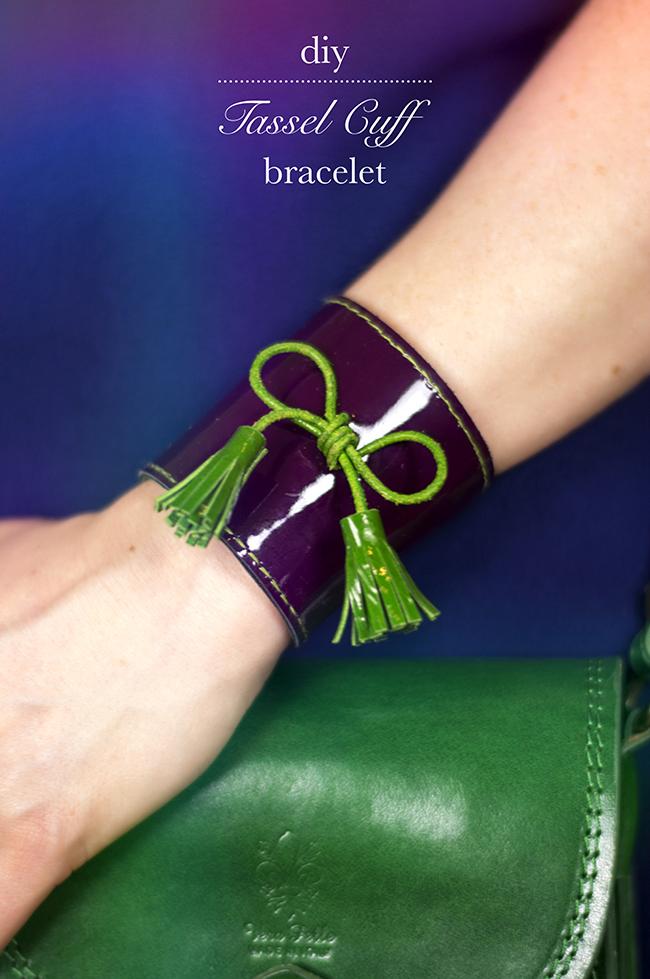 DIY Tassel Cuff Bracelet {via www.fashionrolla.com}