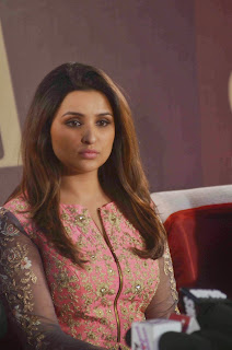 Parineeti Chopra Beautiful in 2 Piece Anarkali Dress with Jari Work Top at SIYA Fashion Launch