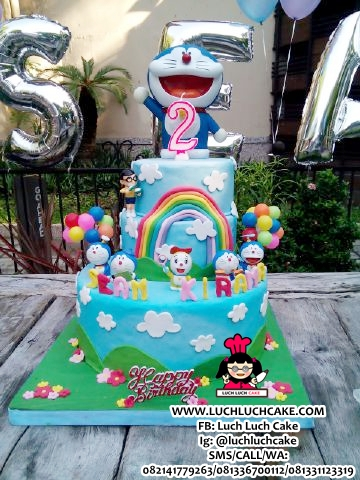 Doraemon Birthday Cake Fondant
