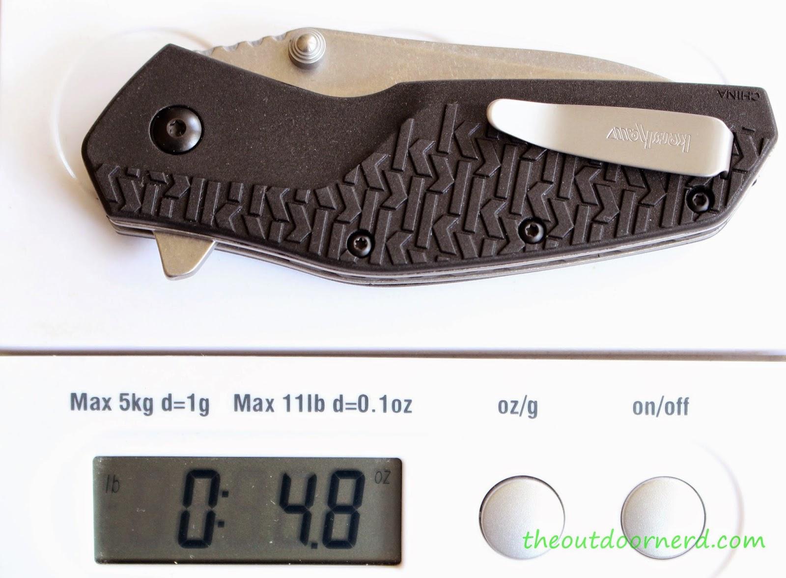 Kershaw Swerve EDC Pocket Knife: On Scale