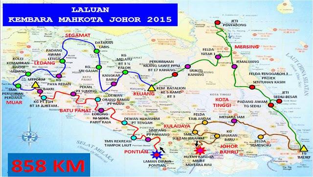 laluan Kembara Mahkota Johor 2015