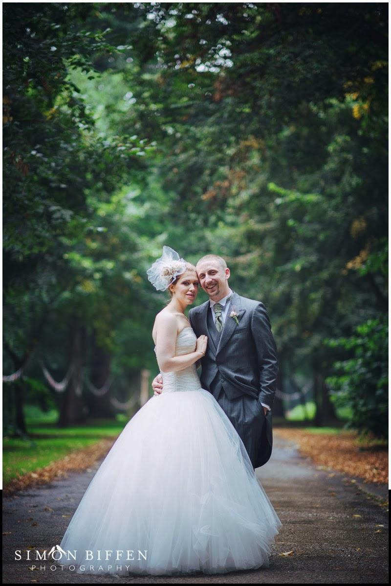 Bride and groom at Blackthorpe Barn