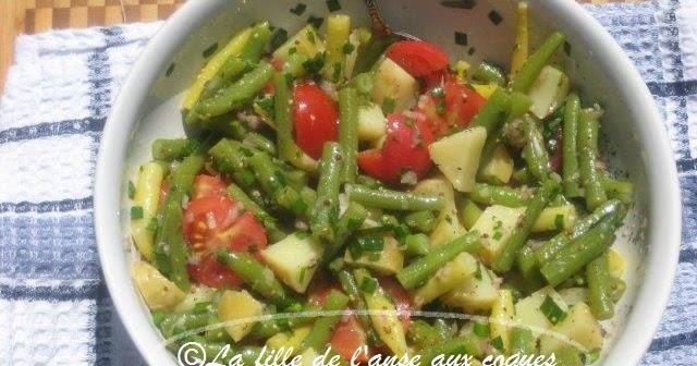 La fille de l 39 anse aux coques salade de haricots pomme - Comment congeler des haricots verts frais du jardin ...
