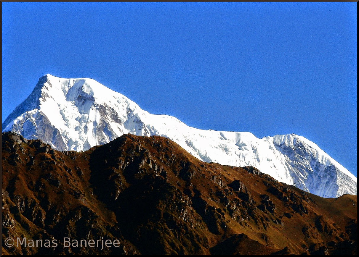 Majestic Snowy Peaks as seen in Roopkund Trek