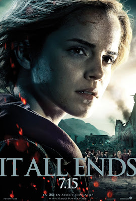 "Harry Potter and the Deathly Hallows: Part 2 ""It All Ends"" Portrait Movie Poster Set - Emma Watson as Hermione Granger"
