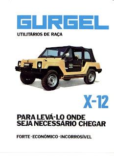 propaganda Gurgel X 12 - 1979