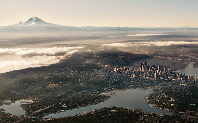 Aerial view of Seattle, Washington