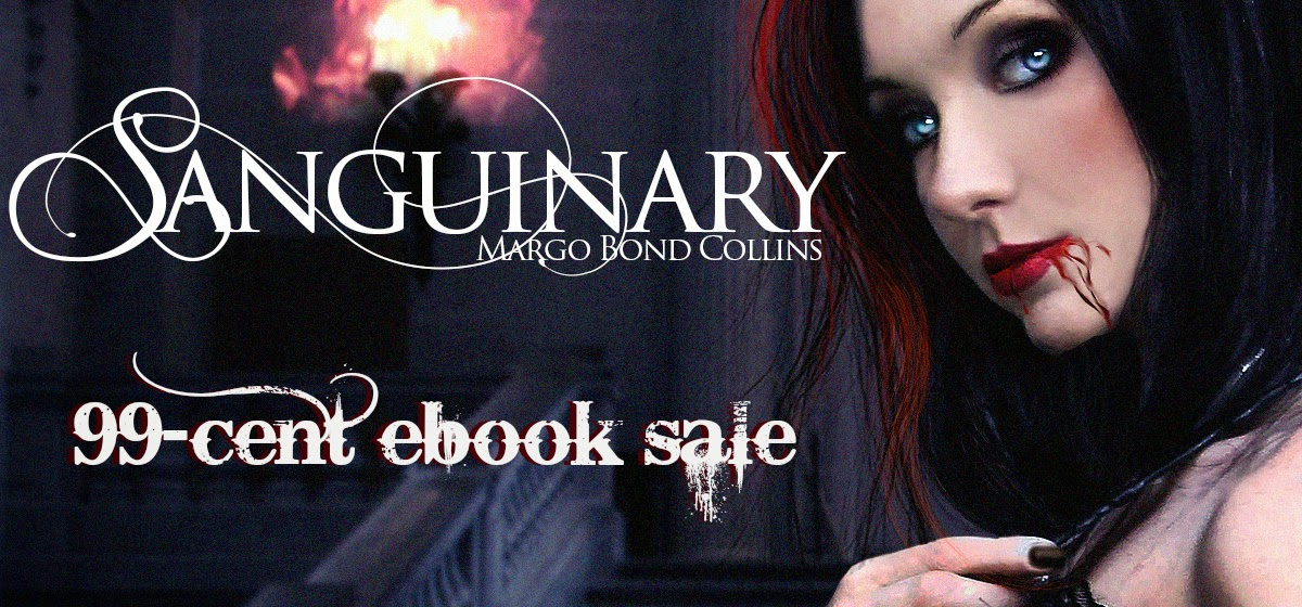 http://www.amazon.com/Sanguinary-Night-Margo-Bond-Collins-ebook/dp/B00MR5VGV8/