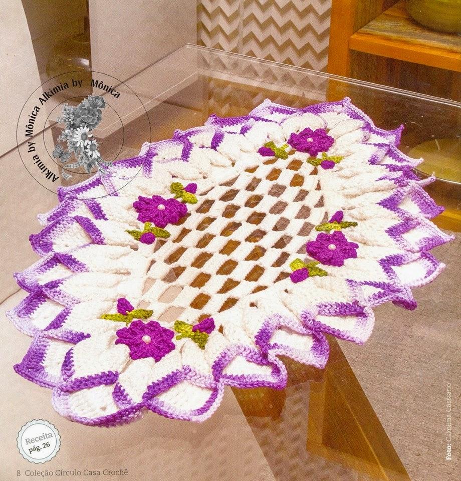 Carpeta para decoración forma rombo crochet
