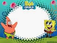 Moldura Bob Esponja Feliz