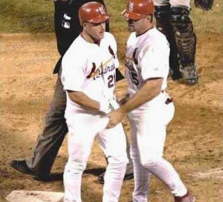 funny picture baseball player  grab balls of his teammate