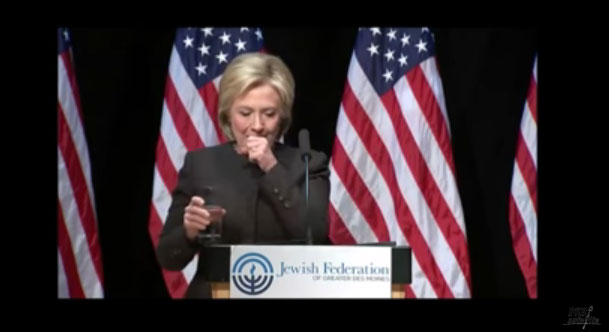 US Presidential Hopeful Hillary Clinton Coughs Profusely During Campaign Speech Sparking Controversy On Social Media (Photos, Video)