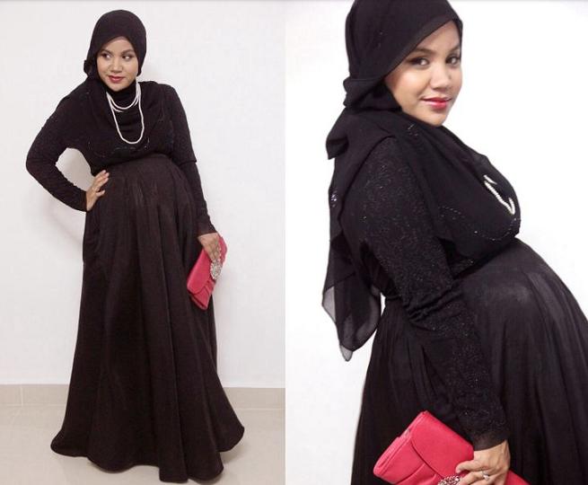 Contoh Baju Hamil Muslim Gamis Modern