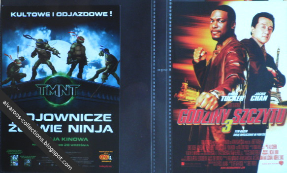 movie flyers - Teenage Mutant Ninja Turtles, Rush Hours 3