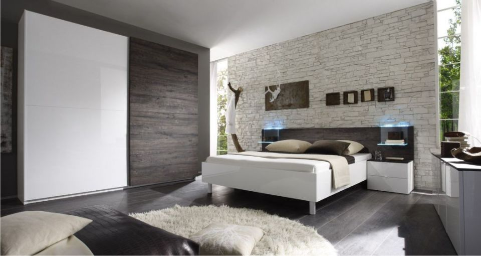Dormitorios con paredes grises dormitorios colores y estilos - Paredes de habitaciones ...