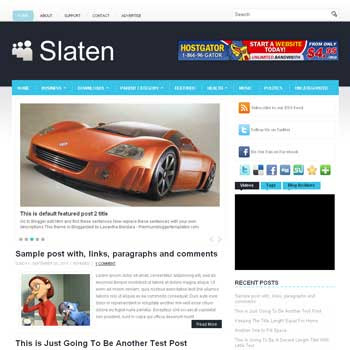 Slaten blog template. template image slider blog. magazine blogger template style. wordpress theme to blogger