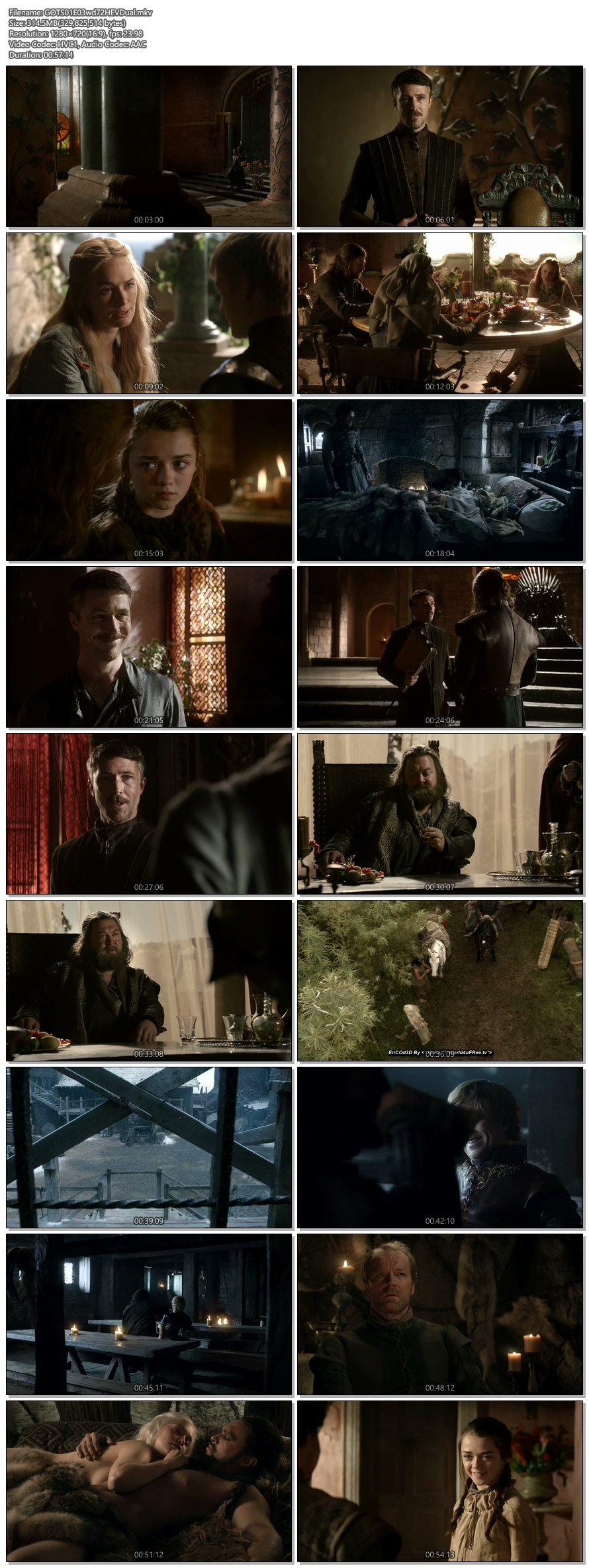 Screenshots Of Hindi Dubbed Show Game Of Thrones 2011 Season 01 Episode 03 300MB 720P HD
