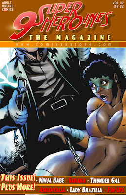 Beautiful and Sexy Superheroine XXX comic 9 Superheroines Comic Book Cover