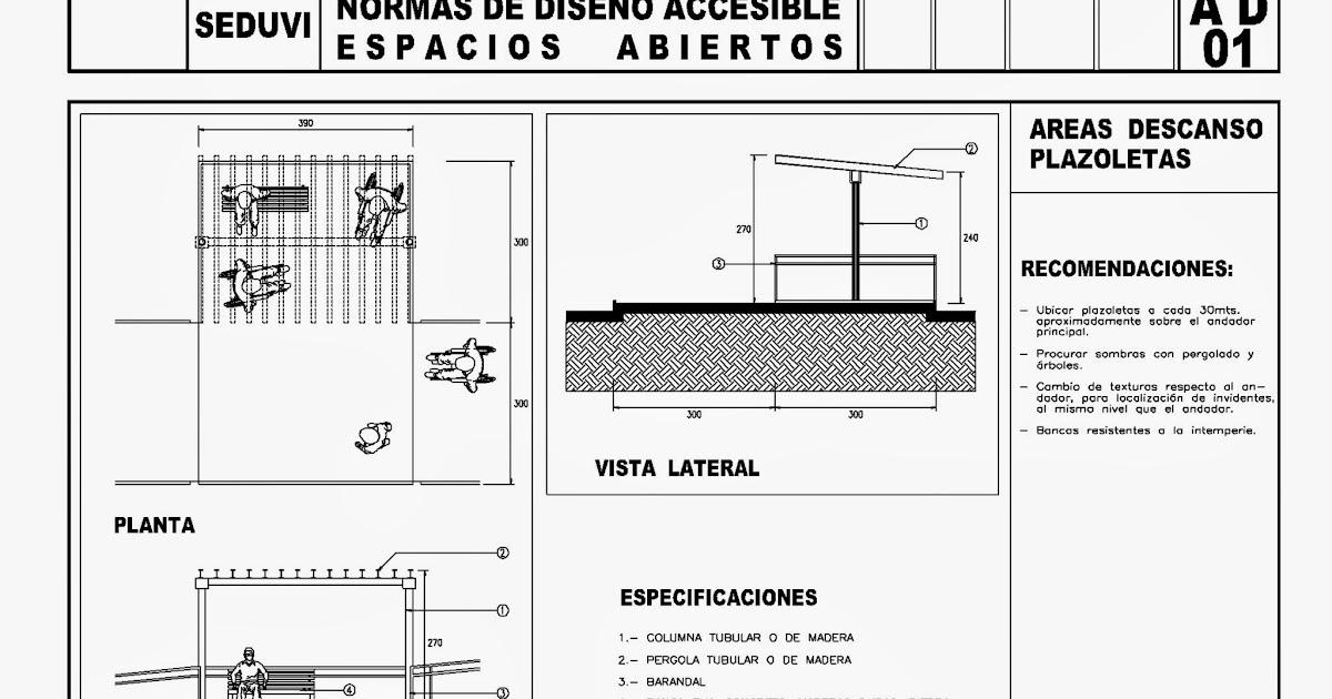 Baño Discapacitados Bloque Cad:Todo para el Arqui: Normas diseño discapacitados (1) SEDUVI – Autocad