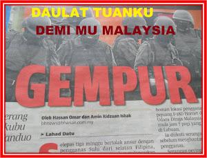 DAULAT TUANKU, HINGGA TITISAN DARAH TERAKHIR MENUJU SYAHID UNTUK MU MALAYSIA