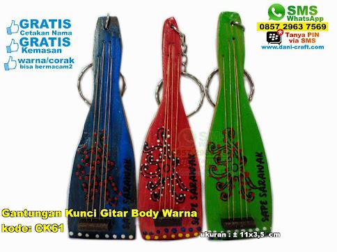 Gantungan Kunci Gitar Body Warna