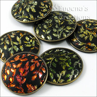Polymer clay lentil beads