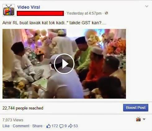 Tak De GST kan Amir Raja Lawak Buat Lawak Masa Akad Nikah