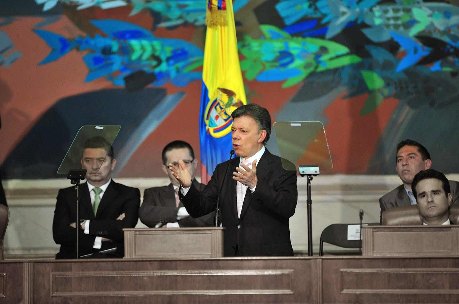 Juan Manuel Santos en el Congreso