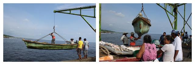 Vissersbootjes worden binnen getakeld El Salvador