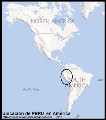 Ubicación de PERU en América, BING