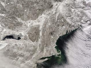 VIEWING A NOR'EASTER FROM SPACE