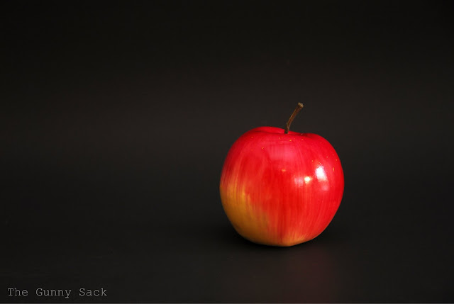 Apple With Black Background