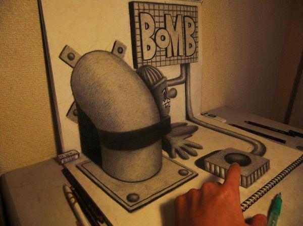 Dibujo Lapiz Grafito 3d Grafito 3d Arte Dibujos Lápiz