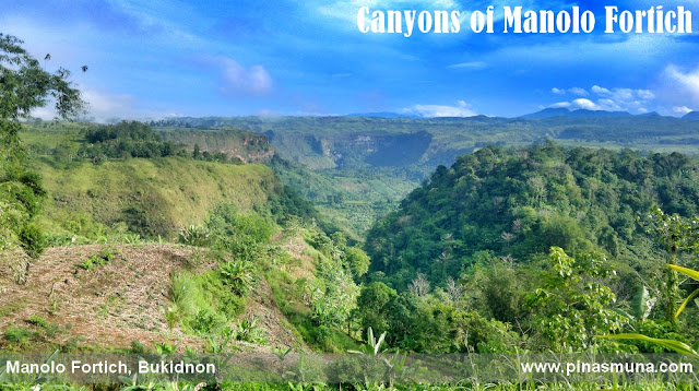 canyons in the town of Manolo Fortich, Bukidnon, Philippines