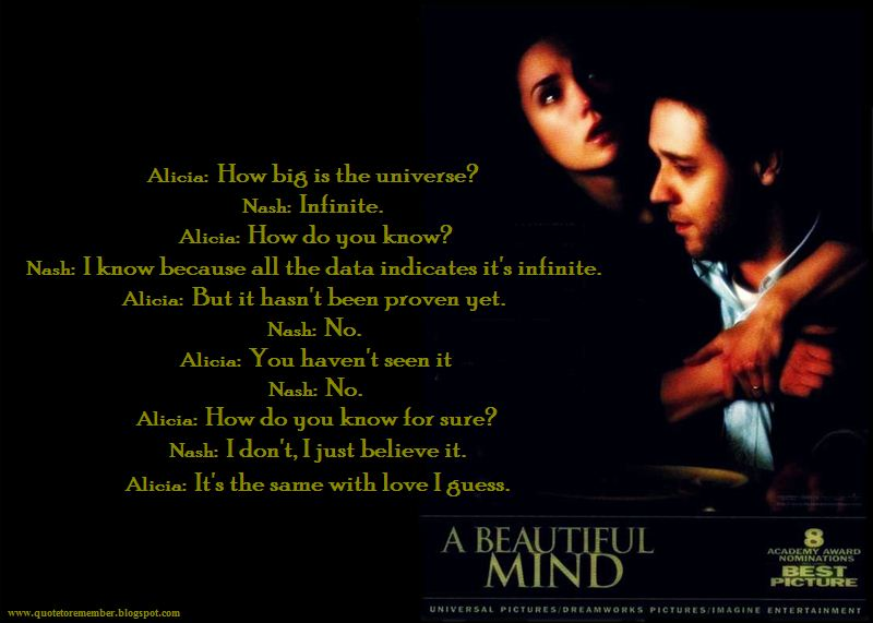 BEAUTIFUL MIND [2001]