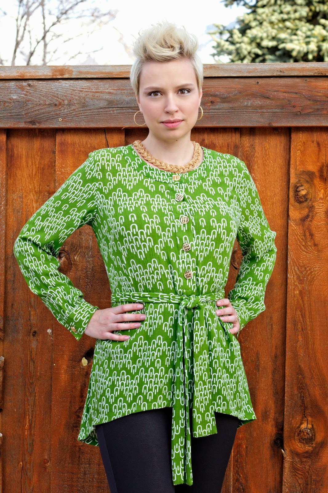 How to upcycle a dress into a high-low tunic from Craftastical!