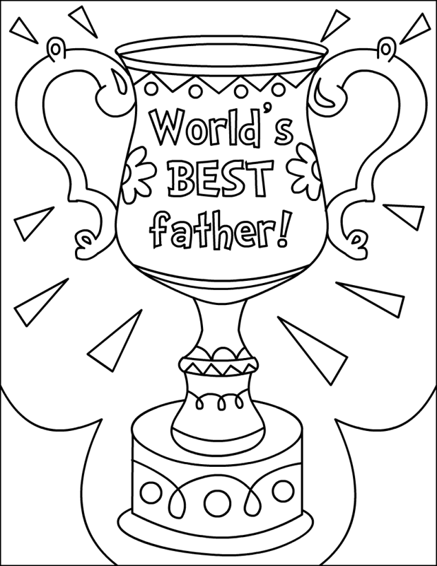 fathers day card coloring pages - photo#12