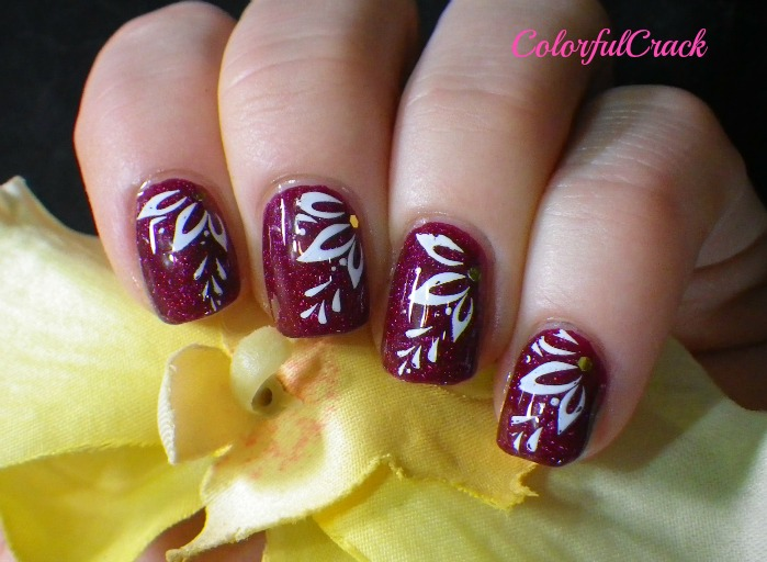 Burgundy Nail Art Designs