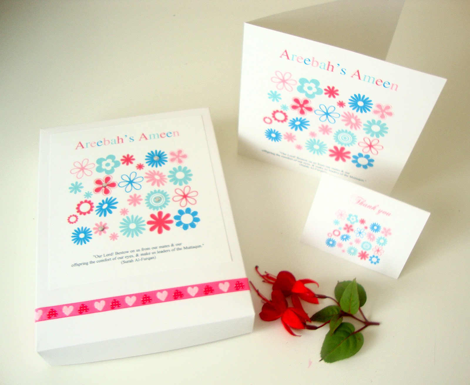 Sabah Designs Ameen Cards – Ameen Invitation Cards